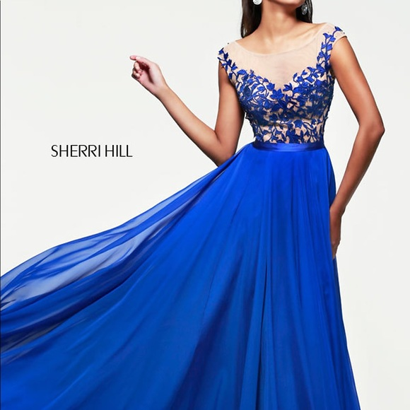 Sherri Hill Dresses | Royal Blue Gown | Poshmark